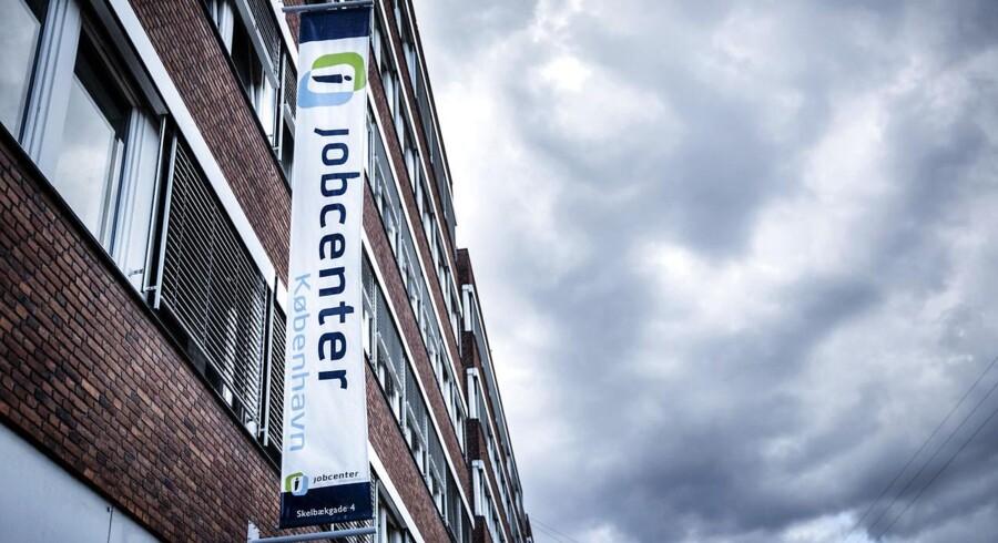 Jobcentrene har haft flere nyuddannede akademikere igennem dørene end i 2013. FOTO: Thomas Lekfeldt/Scanpix