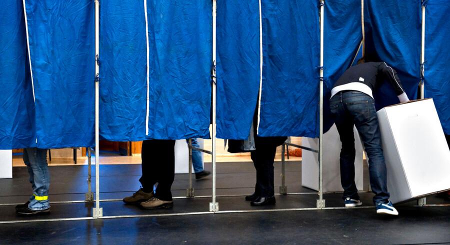 Kommunalvalg 2009. Kommunalvalget i fuld gang på Vanløse Skole tirsdag d. 17 november.