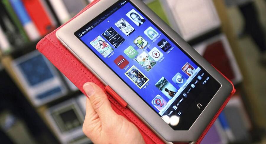 Nook er Barnes & Nobles e-bogslæser, som Microsoft nu skyder penge i. Foto: Shannon Shapleton, Reuters/Scanpix