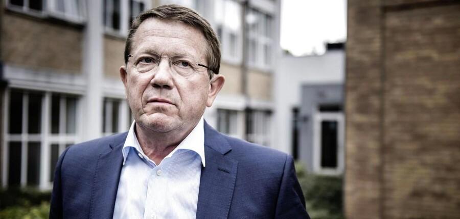 Forsvarer Jørgen Lange foran Retten i Nykøbing Falster.