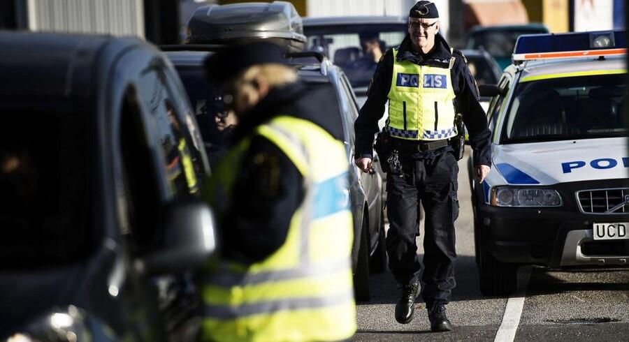Svensk politi og efterretningstjeneste leder efter terrormistænkt. Arkivfoto.