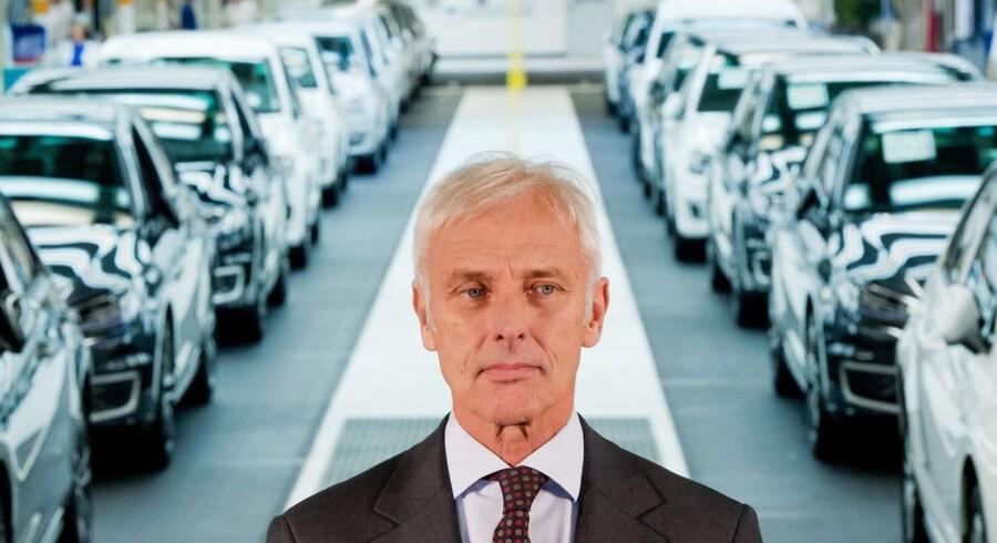 Den nye administrerende direktør, Matthias Müller, mærker allerede presset.