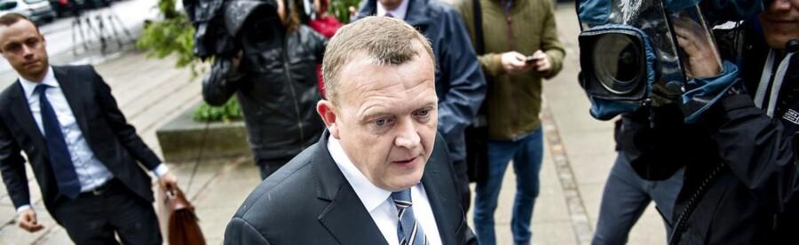 Lars Løkke Rasmussen ankommer til afhøring i statsløsekommisionen