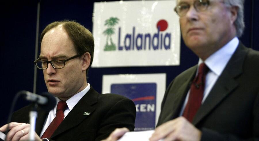 Flemming Østergaard var bestyrelsesformand i Parken Sport og Entertainment og Jørgen Glistrup var direktør.