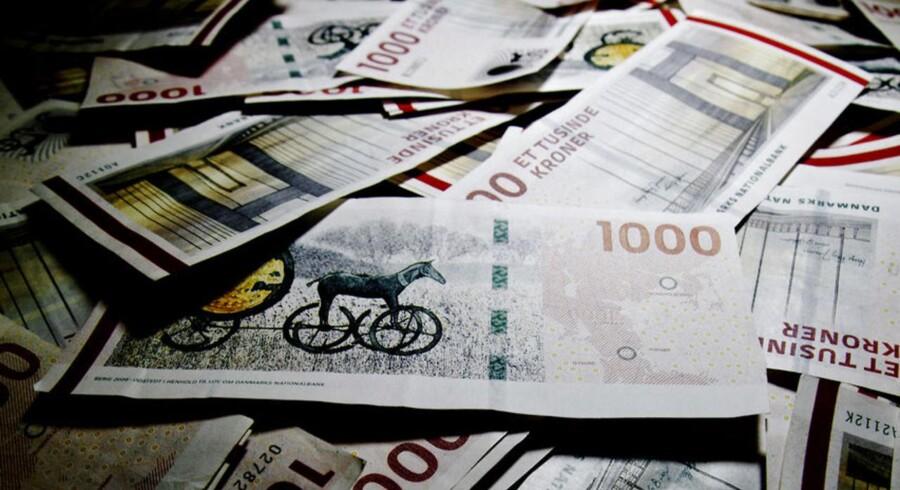 1000 kroner i sedler. Ialt er her fotograferet 250.000 kroner.