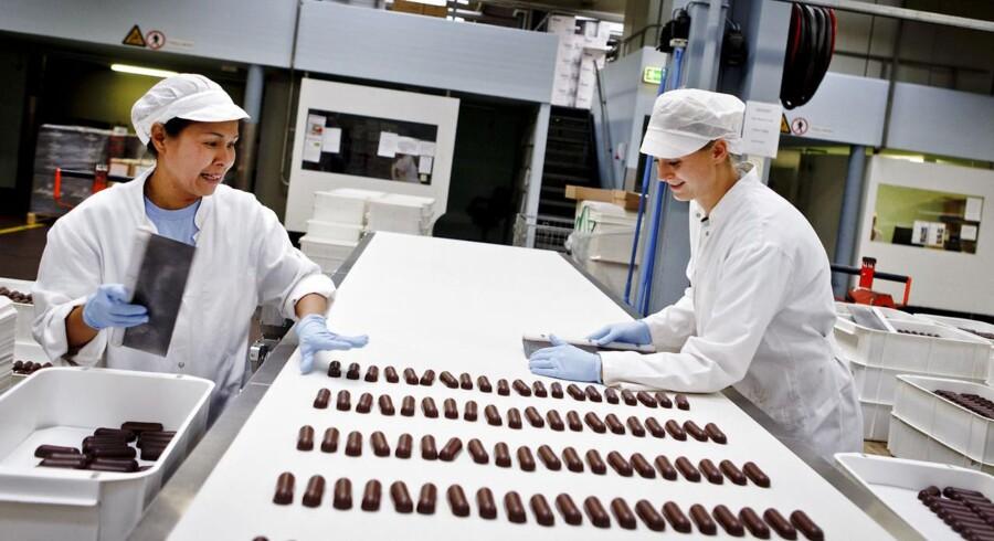 Tom's Chokolade i Ballerup er én af de store danske virksomheder, eksporterer til udlandet.