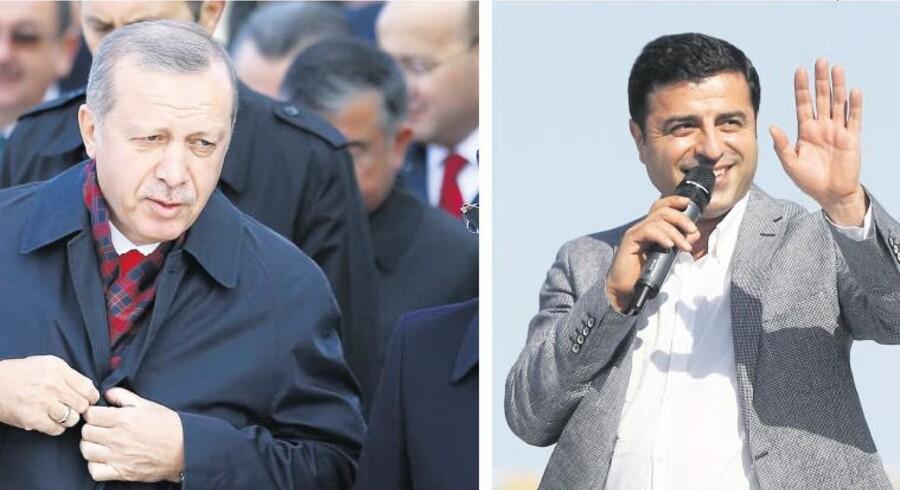 Der venter Tyrkiets præsident, Recep Tayyip Erdogan, og sommervalgets store kurdiske overraskelse, Selahattin Demirtas, en spændende søndag.