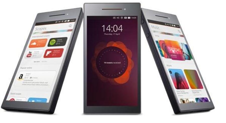 Ubuntu Mobile er en konkurrent til andre mobilstyresystemer som Android, iOS og Windows Phone. De første telefoner kommer i handelen til efteråret, formodentlig til langt lavere priser end mange smartphonetelefoner i dag. Foto: Ubuntu
