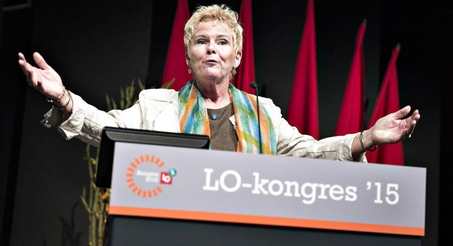 LOs nyvalgte formand Lizette Risgaard er nu klar til at præsentere den nye ledelse.