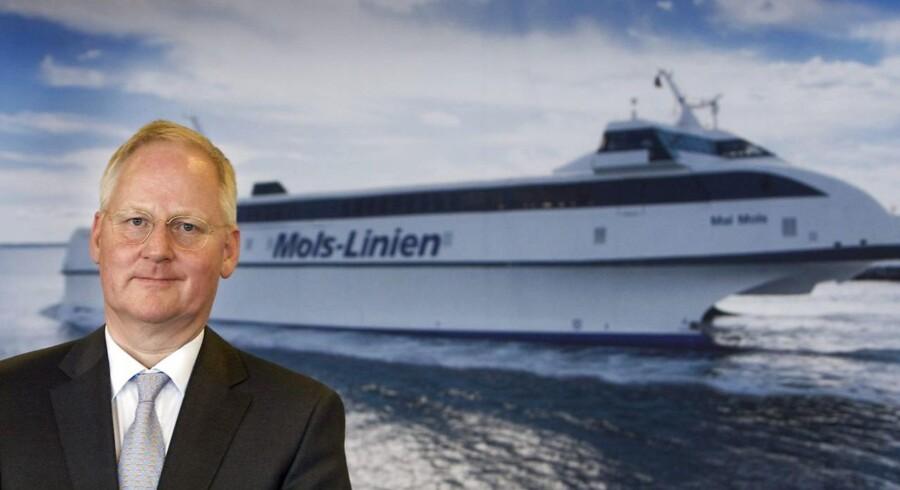 Mols-Linien er i gang med at få bygget en helt ny færge til den ene af to ruter til Bornholm, som rederiet mandag har afgivet tilbud til Transport- og Bygningsministeriet om færgebetjeningen af. Det fortæller Frantz Palludan, der er bestyrelsesformand i Mols-Linien. Arkivfoto.