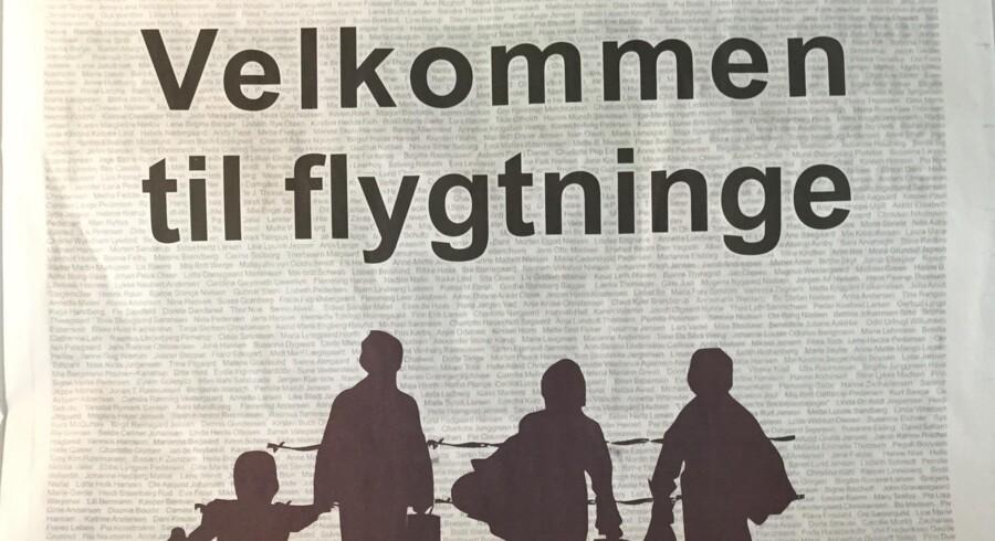 I protest mod Venstres planer om annoncer, der skal skræmme flygtninge fra at søge mod Danmark, har en Facebook-gruppe i dag indrykket en annonce med det modsatte budskab i flere aviser. Her et uddrag af annoncen.