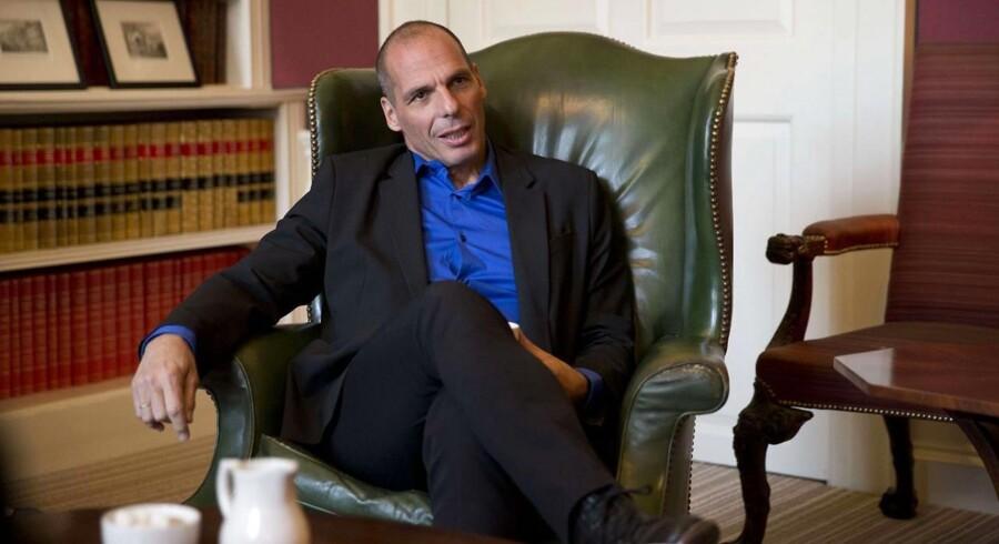 Grækenlands nye finansminister Yanis Varoufakis var tidligere på ugen på besøg hos den brtiske finansminister George Osborne i Downing Street 11, London.
