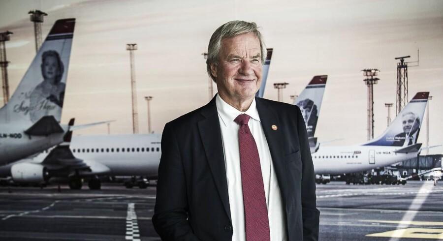Norwegians adm. direktør Bjørn Kjos, kan glæde sig over, at driftsresultatet stiger med 122 procent.