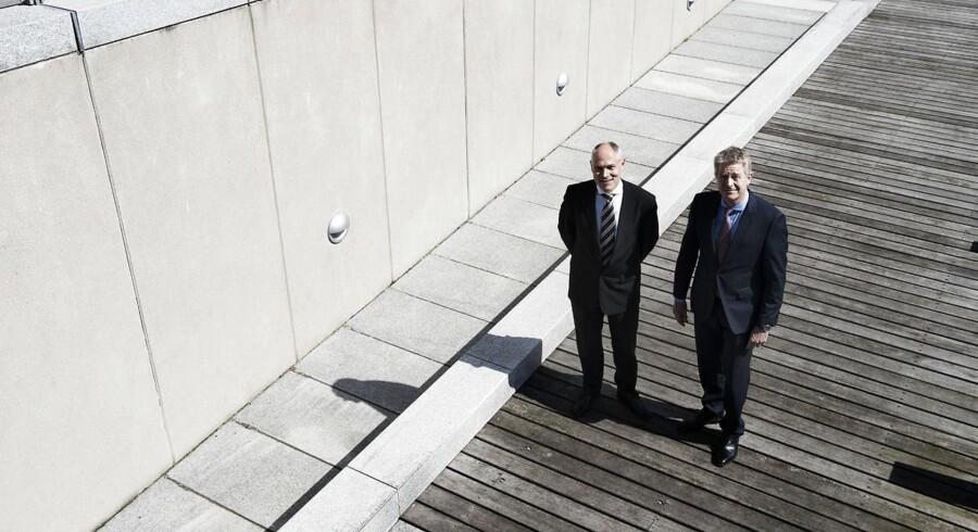 Direktør Hasse Jørgensen og investeringsdirektør Henrik Olejasz Larsen om ejendomsinvesteringer i den store pensionskasse.