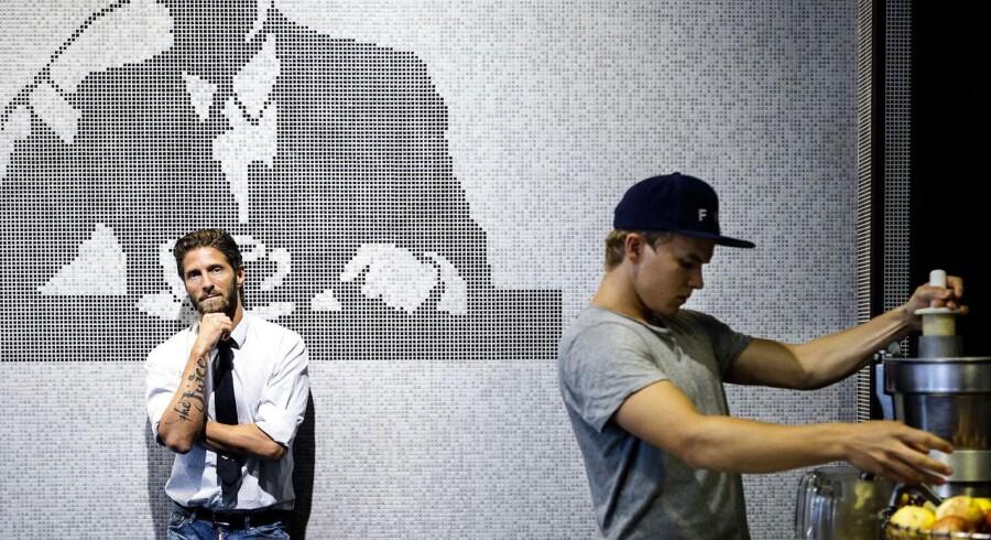 Kasper Basse (til venstre) har afvist et bud på omkring 300 millioner kroner for sin kæde af juicebarer.