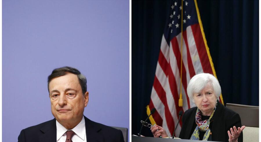 De to centralbankchefer for henholdsvis den europæiske og amerikanske centralbank får vanskeligere arbejdsforhold.