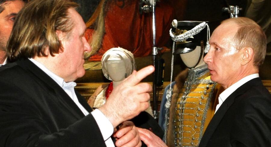 Depardieu og Putin under et møde i 2010.