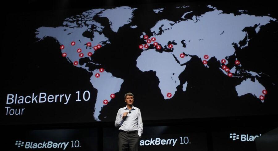 Blackberrys topchef, tyskeren Thorsten Heins, forbereder en ny, kæmpe fyringsrunde. Arkivfoto: Robert Galbraith, Reuters/Scanpix