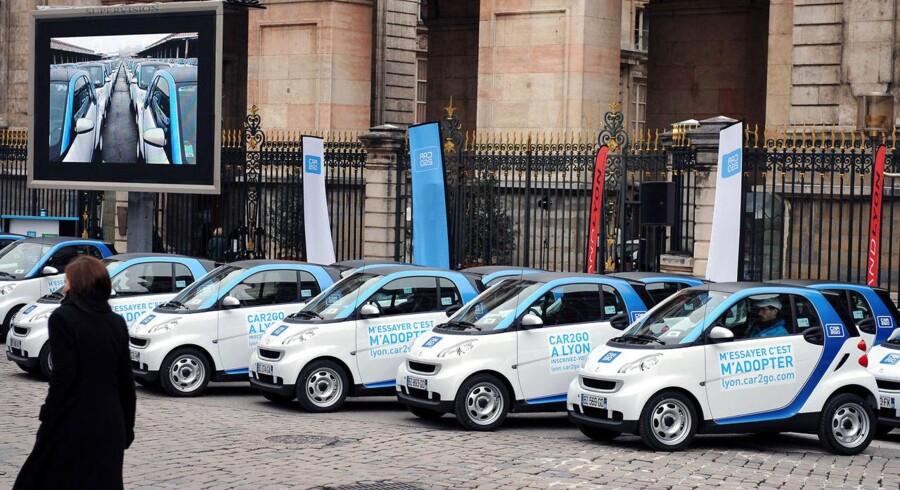 Delebilsvirksomheden Car2go er kommet til Danmark.