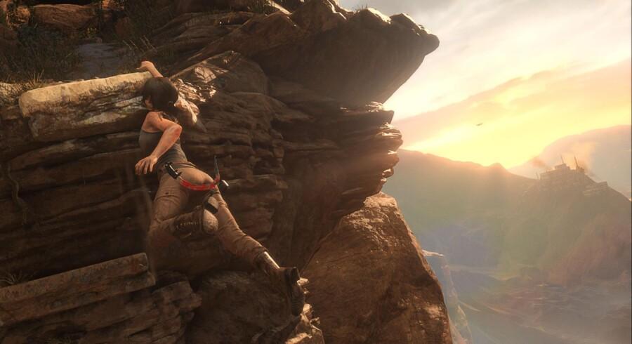 »Halo 5: Guardians« og »Rise of the Tomb Raider« kan kun opleves på Xbox One og er således vigtig ammunition for Microsoft på julemarkedet. Her ses »Rise of the Tomb Raider«.