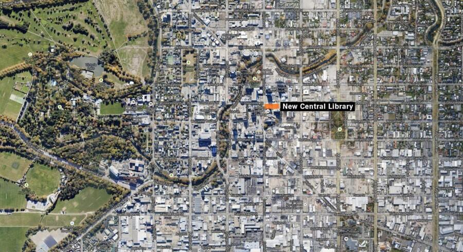 Her skal det kommende Schmidt Hammer Lassen-tegnede bibliotek ligge i jordskælvsramte Christchurch.