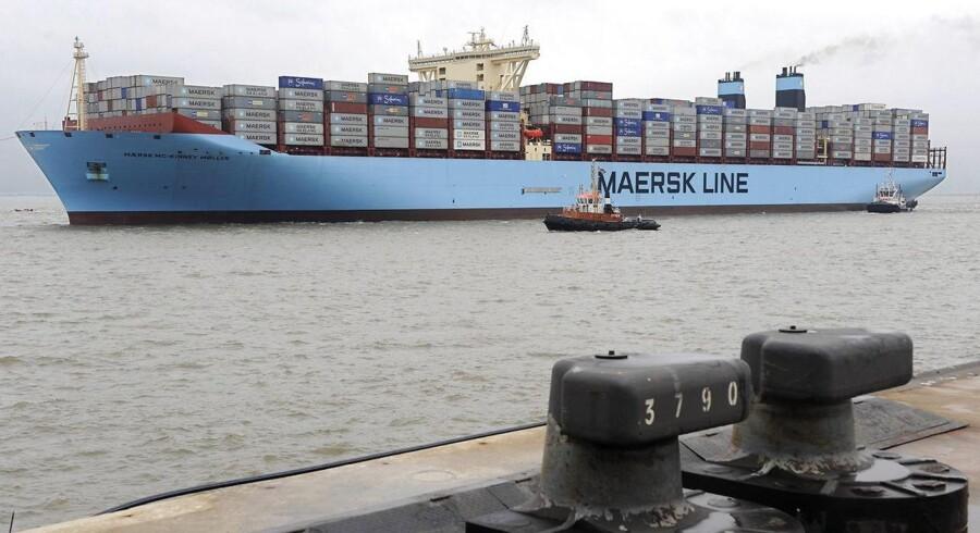 Det er igen blevet billigere at flytte en container fra Kina og ud i verden i den forgangne uge, hvor Shanghai Containerized Freight Index, SCFI, faldt med 7,3 pct. til indeks 433,46. Det er den laveste aflæsning af indekset nogensinde. EPA/INGO WAGNER