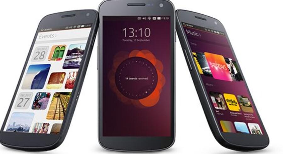 Ubuntu Touch er klar til mobiltelefoner, og nu er den første - endnu unavngivne - mobiltelefon klar til Ubuntu Touch. Foto: Ubuntu
