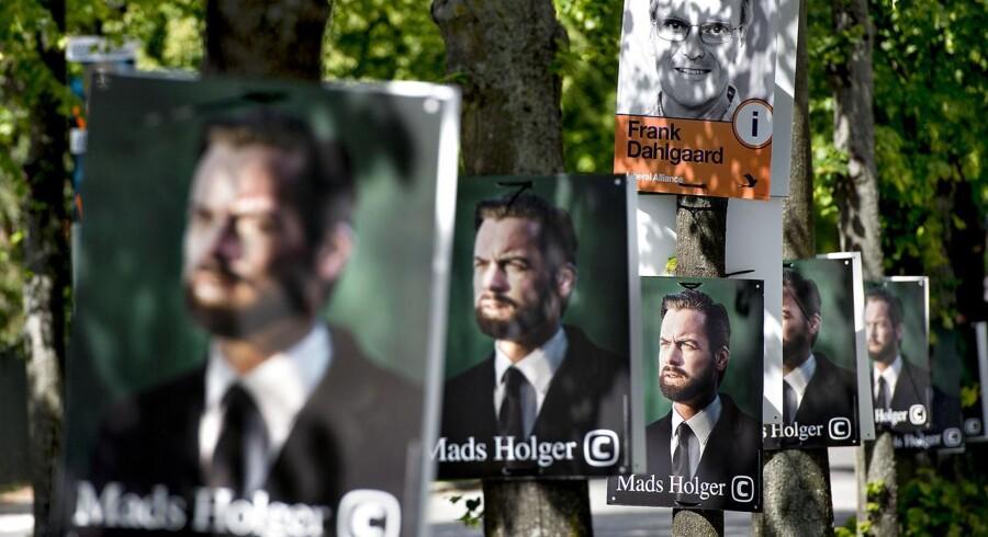 Valgplakter med Mads Holger, De Konservative.