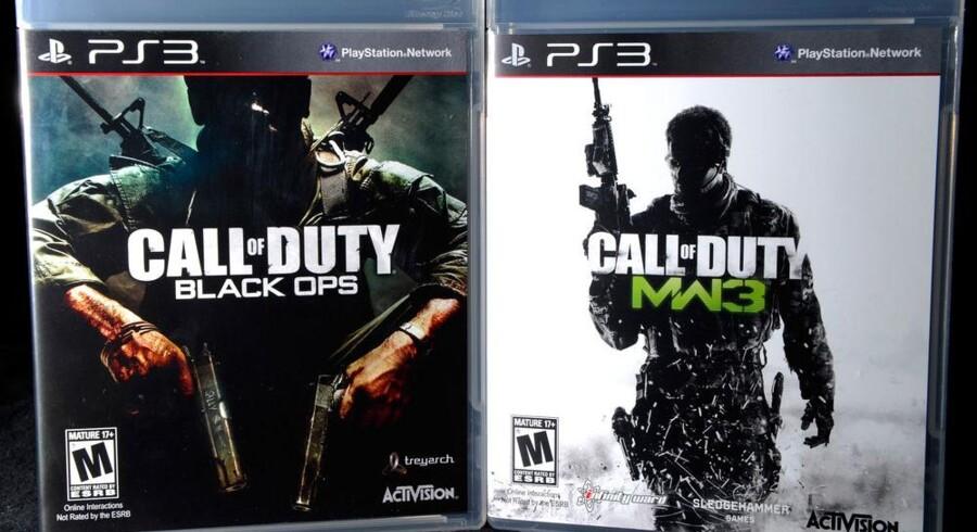 Det nye spil i krigsserien Call of Duty (til højre) har solgt bedre end flere storfilm. Foto: Ethan Miller, AFP/Scanpix