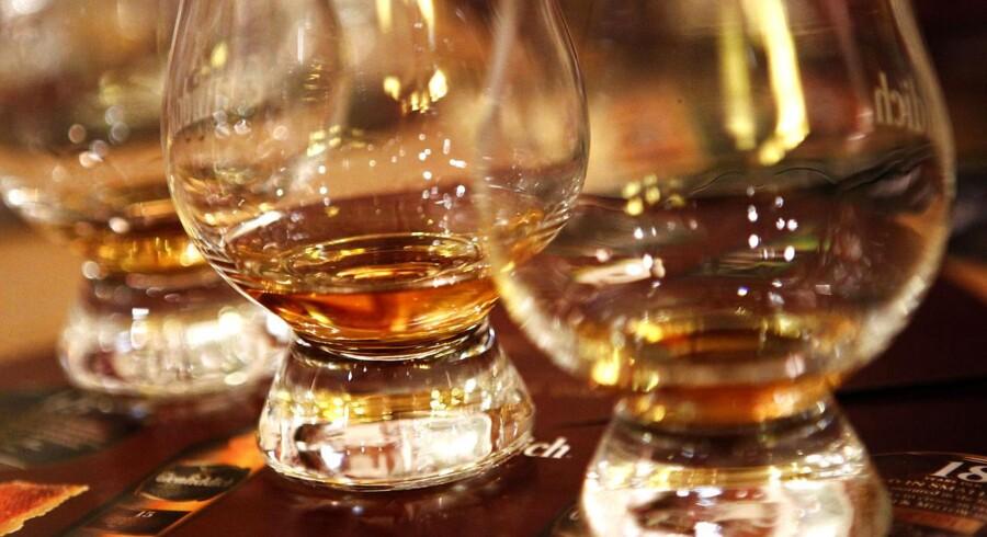 Scotch whisky fra destilleriet i Dufftown, Skotland.