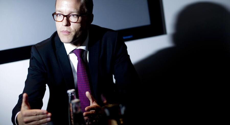 Jakob Riis, Novo Nordisks koncerndirektør med ansvar for marketing og Medical Affairs, glæder sig over samarbejde med Roche om ny insulinpumpe. Foto: Mads Nissen.