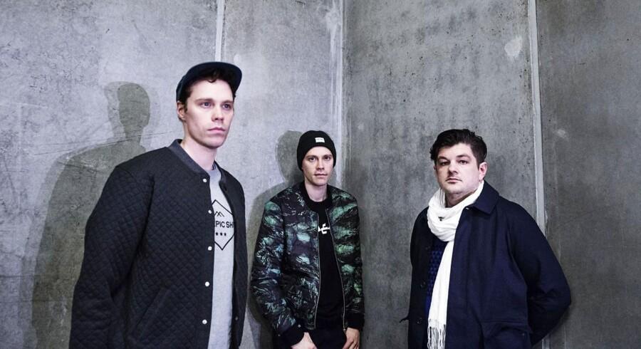 Bandet The Mountains består af Nordsø-tvillingerne Fridolin og Frederik samt sangeren Michael Møller.