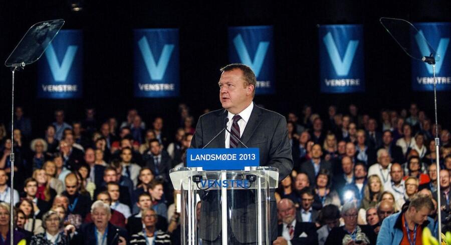Venstres Landsmøde 2013 i Odense. Partiformand Lars Løkke Rasmussen holder tale.
