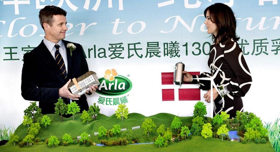 Arla markedsfører sig i udlandet med hjælp fra kongehuset. FOTO: Keld Navntoft/Scanpix