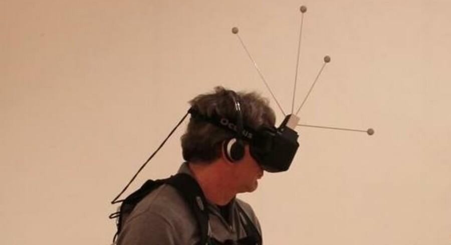 Oculus Rift er et slags headset, som minder om skribriller. Foto: Karim Ben Khelifa