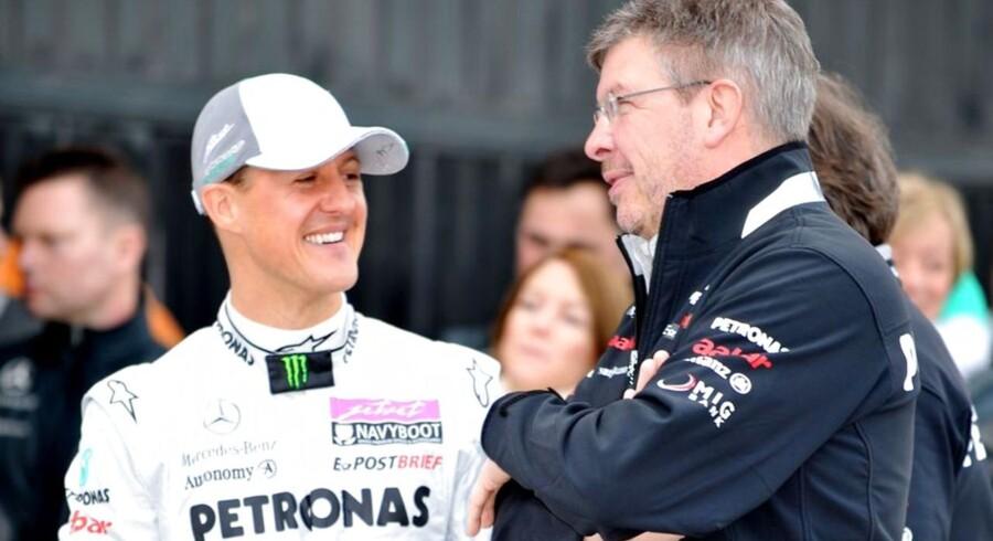 Michael Schumacher og Ross Brawn hos Mercedes.