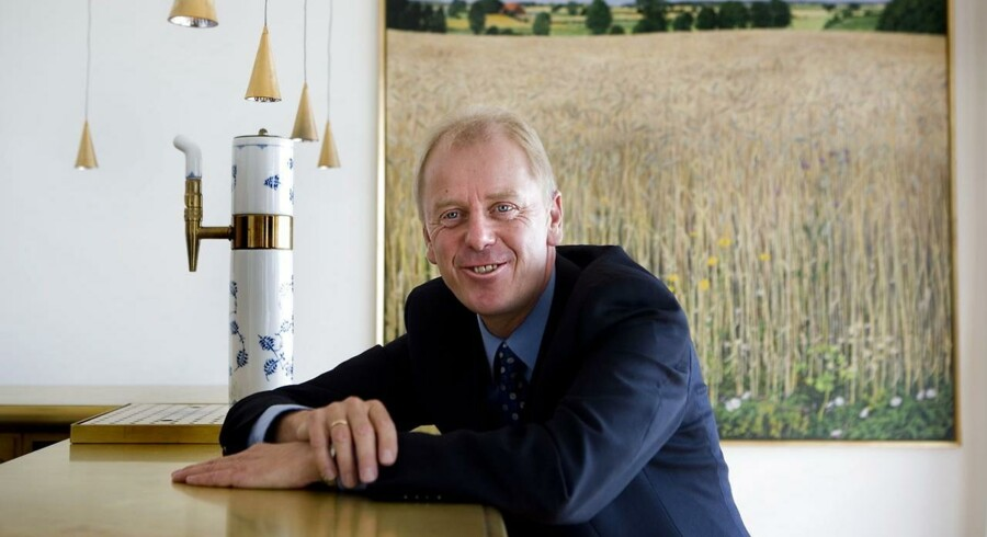 Jagten på Carlsbergs nye topchef efter Nils Smedegaard Andersen er slut. Fra egne rækker er Jørgen Buhl Rasmussen blevet forfremmet til Carlsbergs administrerende direktør, og han tiltræder den 1. oktober. Her ses Jørgen Buhl Rasmussen på pressemødet i dag mandag den 3. september.