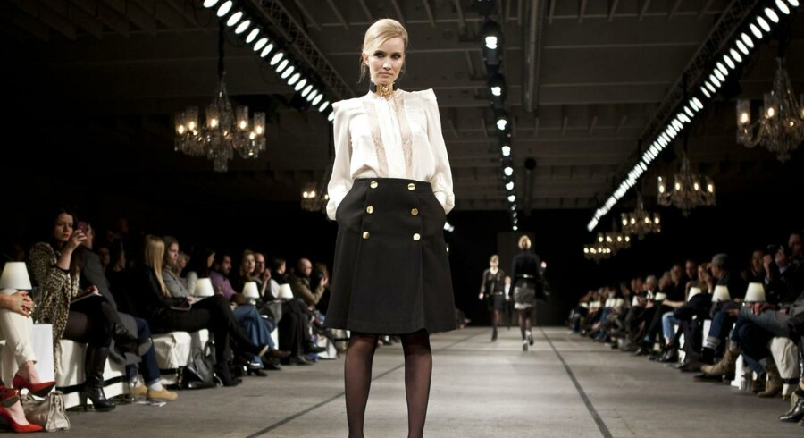 Modeshow for Malene Birger ved sidste modeuge i København, 3. februar 2012