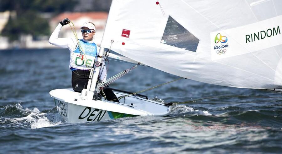 Sejleren Anne-Marie Rindom blev blot slået med et enkelt point i kampen om guld ved EM i Laser Radial. (Foto: Jens Nørgaard Larsen/Scanpix 2016)