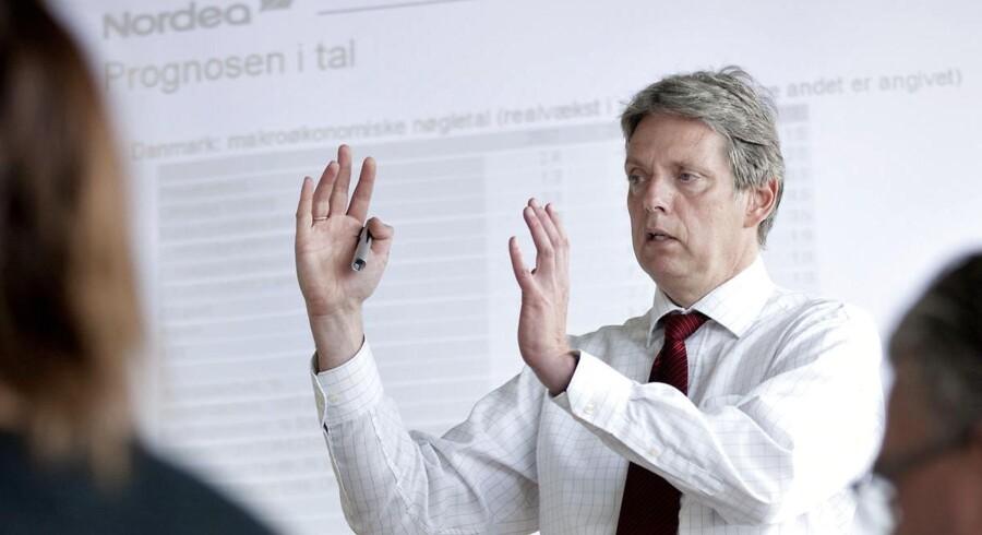 Nordeas Cheføkonom Helge J. Pedersen forventer »solid« dansk vækst de kommende år.