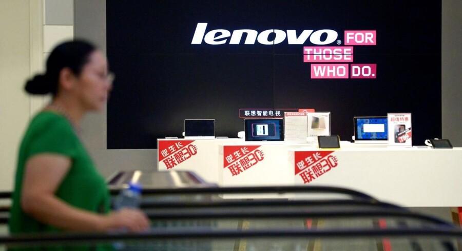 Lenovo befæster sin position som verdens største PC-producent med et overskud, der er vokset med 23 procent. Foto: Wang Zhao, AFP/Scanpix