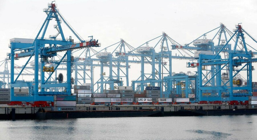 2016 bliver igen et svært år med en lav vækst i verdenshandlen, vurderer det Dubai-baserede havneselskab DP World, som blandt andet er konkurrent til A.P. Møller-Mærsks havneselskab, APM Terminals. Arkivfoto.