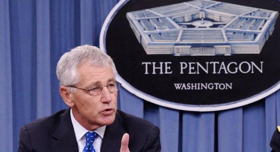 USAs forsvarsminister Chuck Hagel.