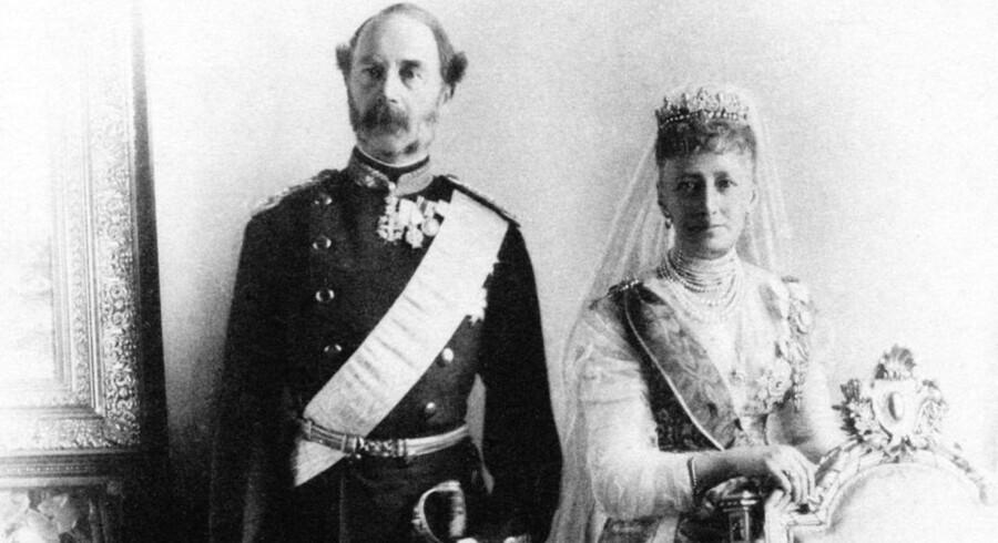 Kong Christian IX og dronning Louise.