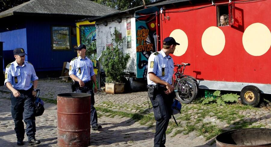 I øjeblikket afvikles en række sager om hashhandel på Christiania, som her ses på et arkivbillede fra 2009.