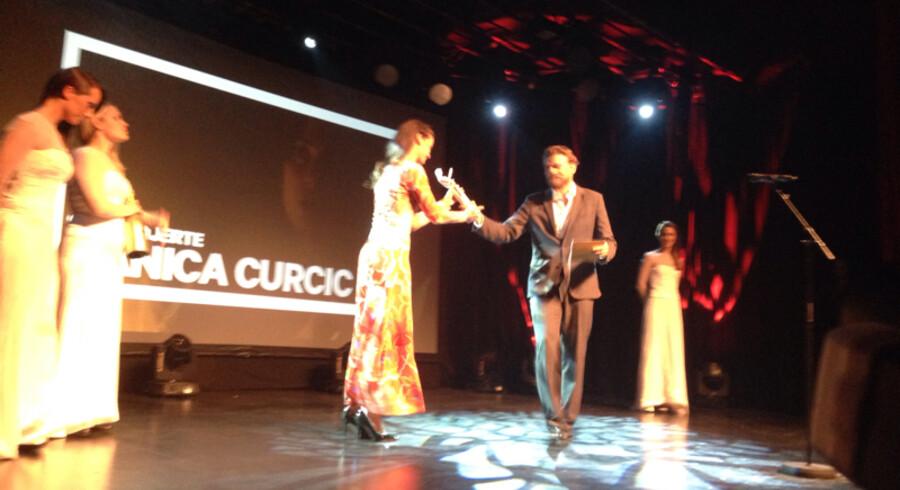 Danica Curdic får en Bodil for bedste kvindelige hovedrolle.