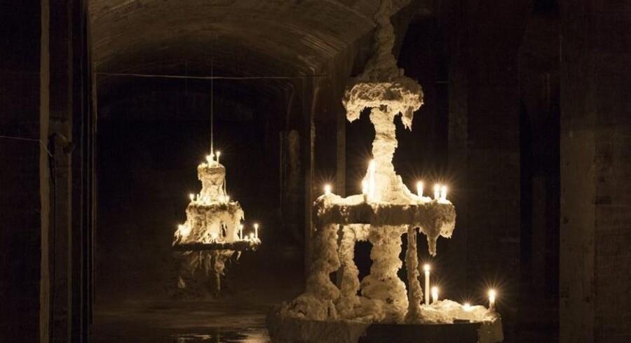Og sådan er der altid et lille lys i mørket. Med »Andante« til Cisternerne under Søndermarken har Christian Lemmerz måske skabt et af sine mest håbefulde værker. Pressefoto: Sune Berg/Cisternerne