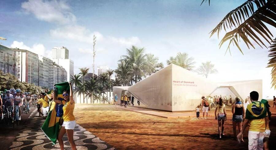 Den danske pavillon kommer til at ligge på Ipanema-stranden, der er Copacabanas sydlige lillebror.