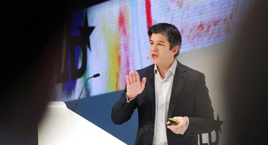 Travis Kalanick, topchef for med medstifter af det private taxiselskab Uber, lovede på en konference i München at skabe titusinder af nye jobs i Europa. Foto: Tobias Hase, EPA/Scanpix