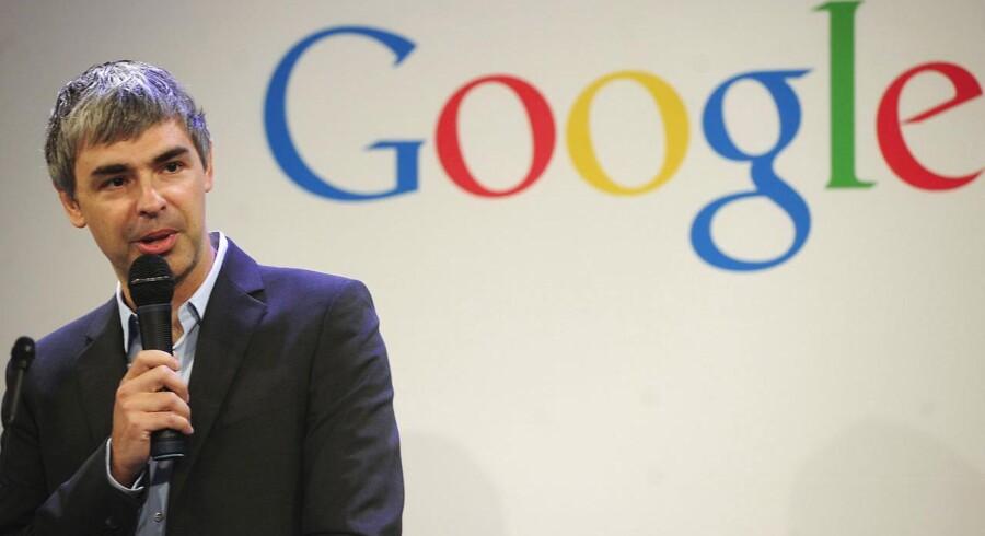 Google-topchef Larry Page måtte sent torsdag dansk tid præsentere et skuffende regnskab for andet kvartal. Arkivfoto.